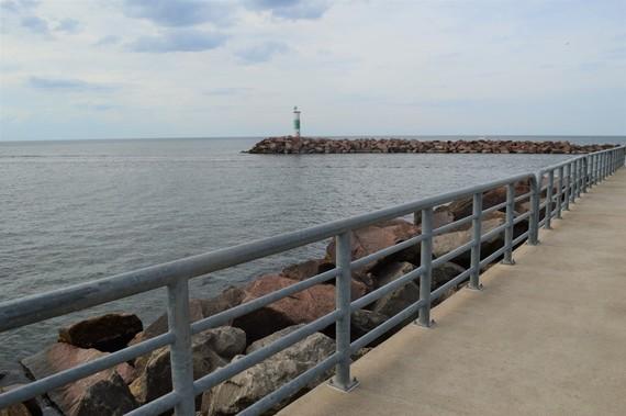 Lake Michigan pier