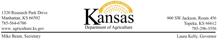 Kansas Department of Agriculture Banner 3