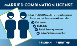 married combo license, new requirements, each spouse must provide full name, birthdate, social security number, driver's license number