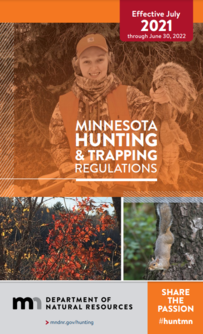 cover of 2021 Hunting and Trapping Regulations handbook