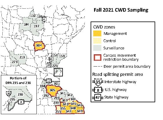 2021 CWD zone map