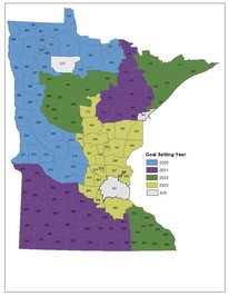 statewide map of goal-setting blocks