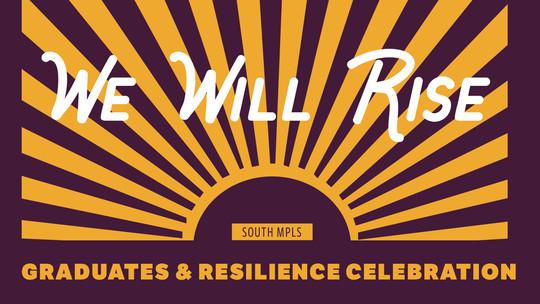 we rise celebration graphic