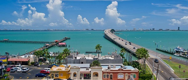 View of the blue Laguna Madre from Port Isabel Lighthouse State Historic Site