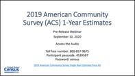 2019 ACS 1-year Webinar
