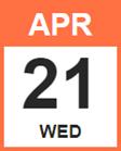 Wednesday, April 21, 2021