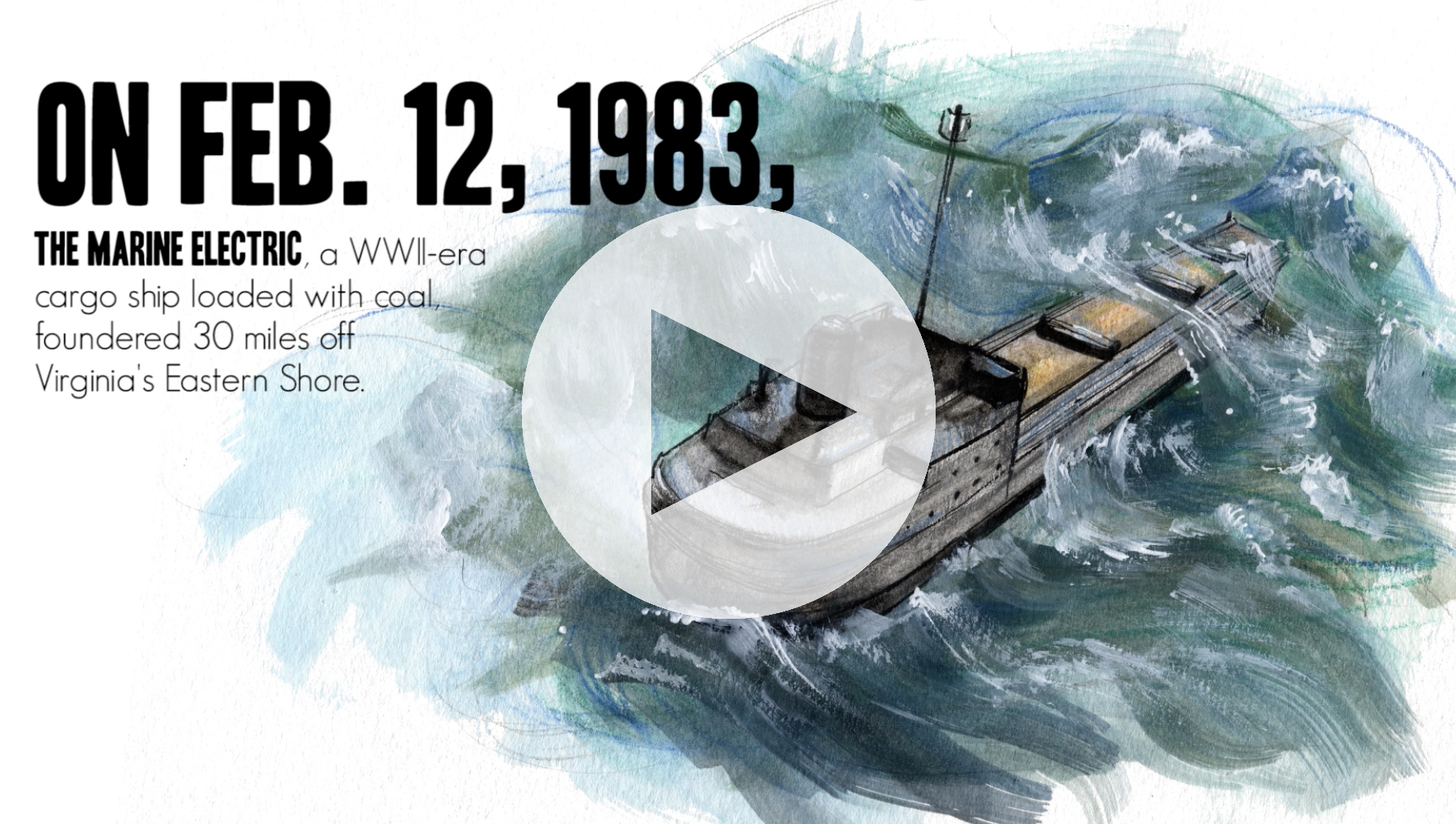 This video outlines the Marine Electric shipwreck and the incident's lasting impact on the Coast Guard.
