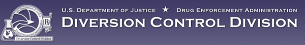 US Department of Justice Drug Enforcement Administration Diversion Control Division