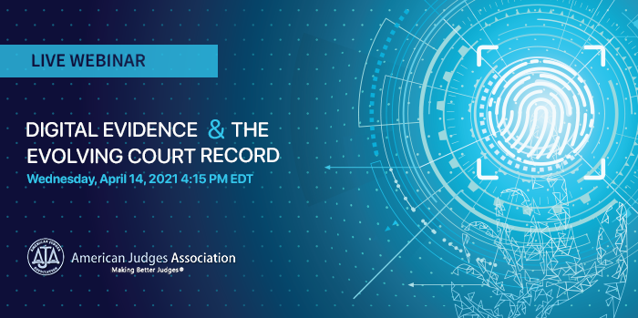 Digital evidence and The Evolving Court Record