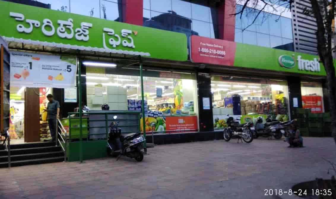 Heritage Fresh Supermarket on East Marredpally Main Road also known as the Entrenchment Road.