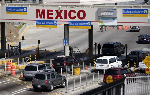 Image result for us mexico border crossings