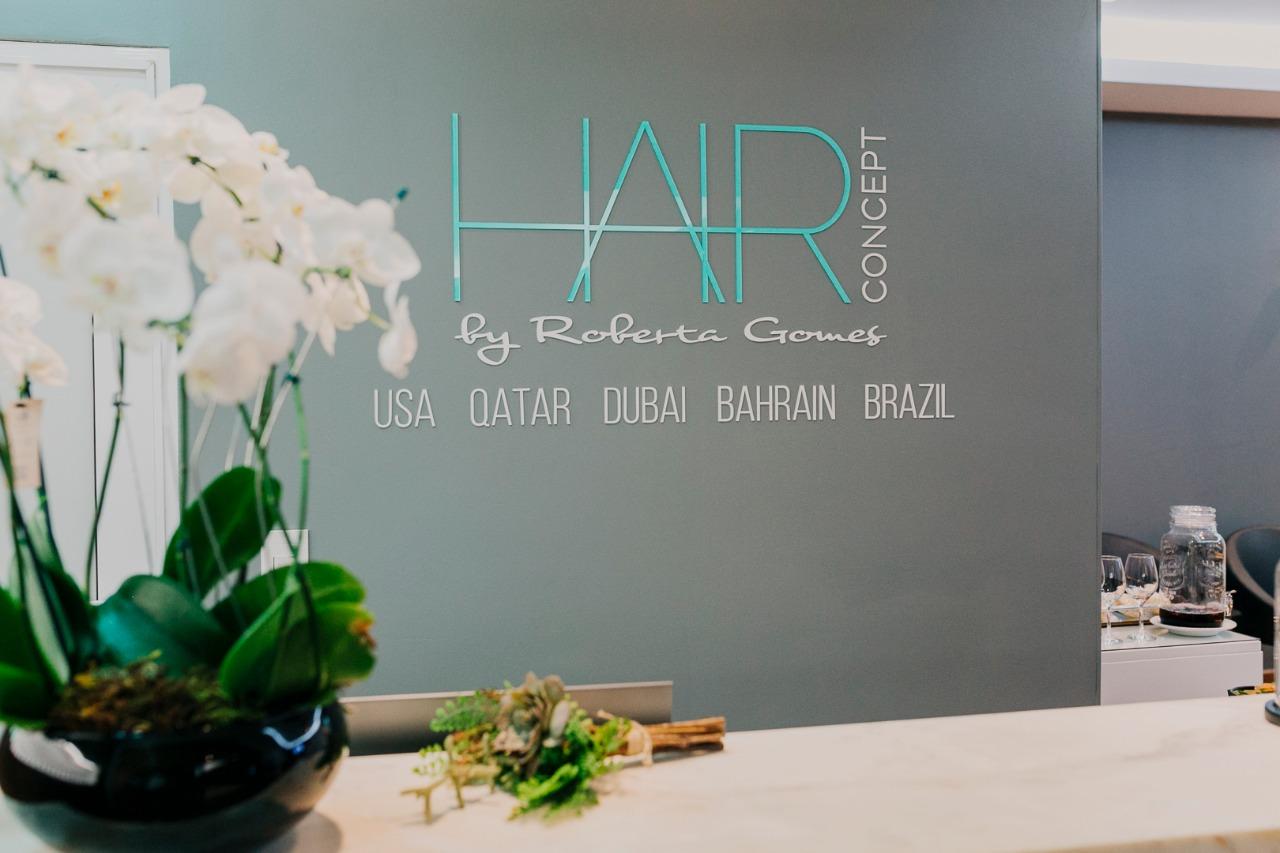 Recepção do Hair Concept no Royal Palm Plaza