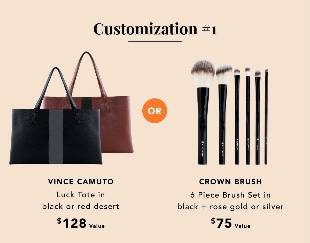 VINCE CAMUTO or CROWN BRUSH