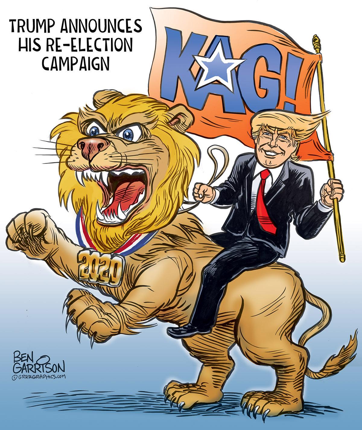 Cartoon - Trump Re-Election