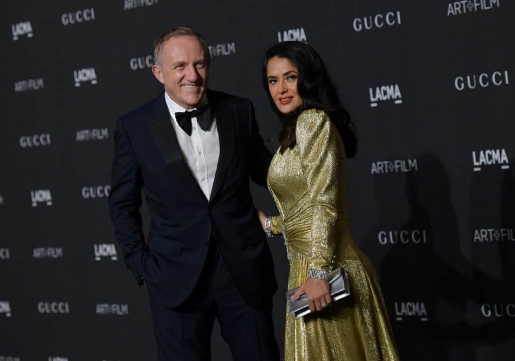 El empresario François-Henri Pinault y su esposa, la actriz Salma Hayek. / AFP