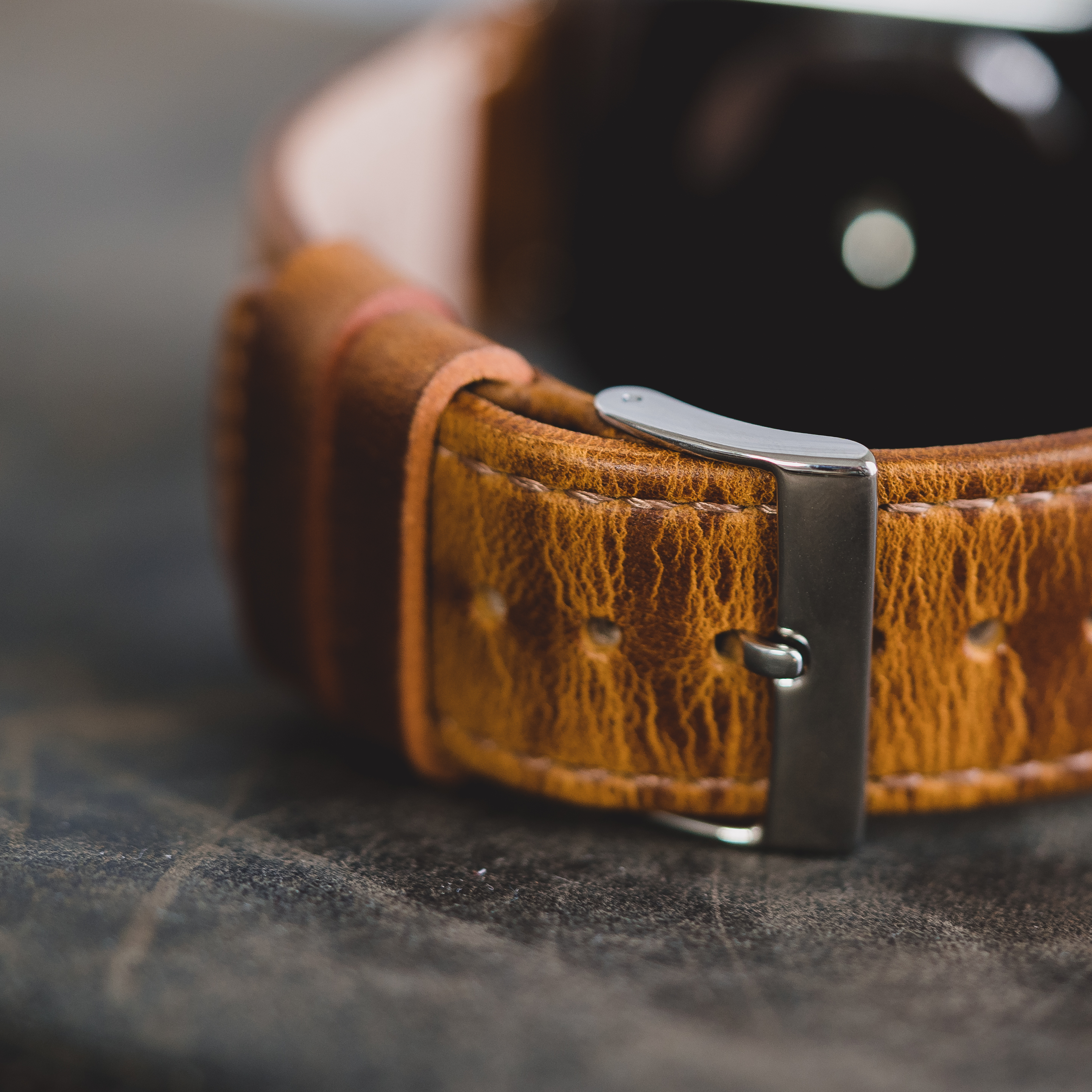 leather quick release weathered brown