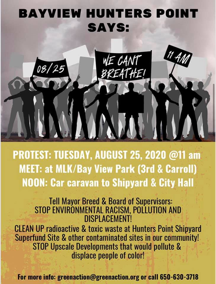 "Bayview Hunters Point for a ""We Can't Breathe"" car caravan @ MLK/Bay View Park"