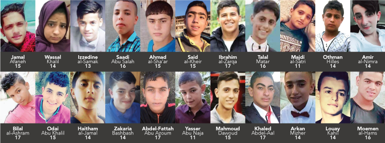 Israeli forces have killed 22 children in the past three monthswhose names and faces we will not soon forget.