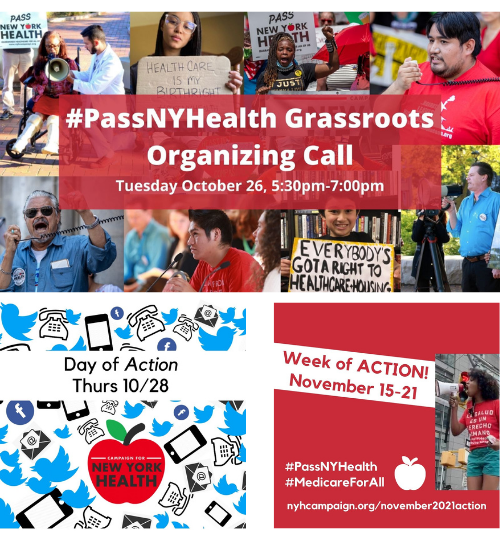 Campaign for NY Health Statewide Grassroots Organizing Call @ Online via Zoom