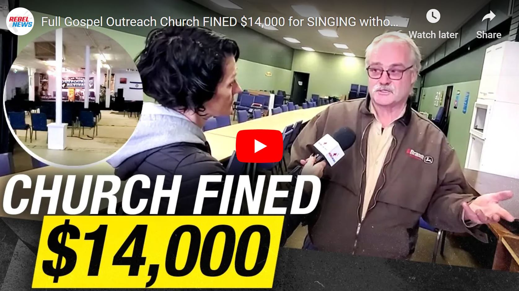 Full Gospel Outreach Church FINED $14,000 for SINGING without masks in Saskatchewan