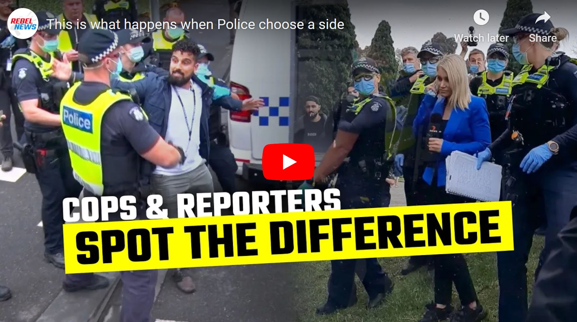 Victoria Police only protect media THEY approve