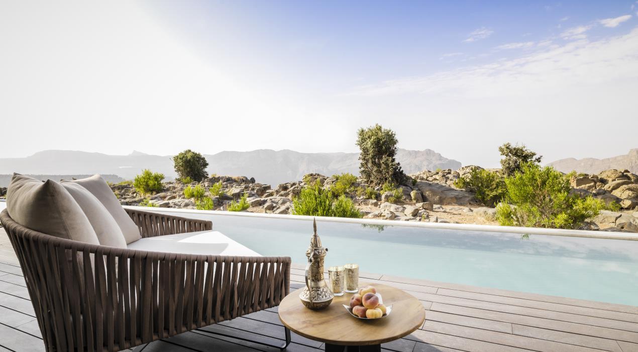 Anantara Al Jabal Al Akhdar Resort - Cliff Pool Villa Pool View 01
