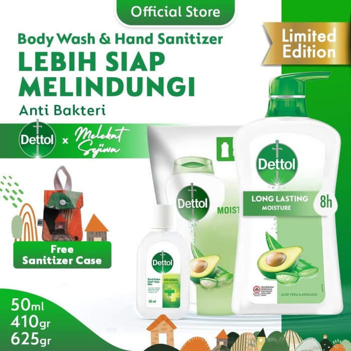Paket Dettol Aloe + Sanitizer 50ml FREE Sanitizer Case Melekat Sejiwa