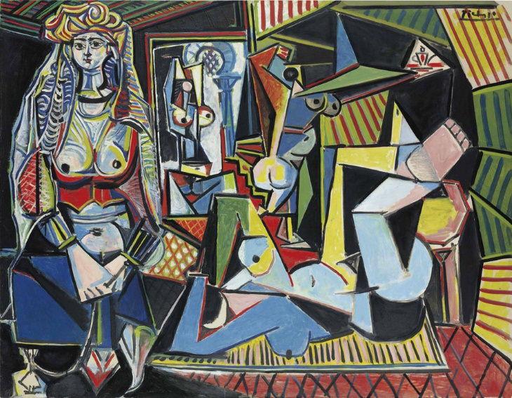 most expensive items on auction 2010-2020 Les femmes d'Alger (Version 'O') byPablo Picasso