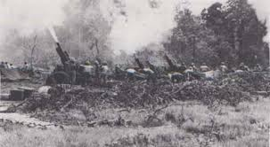 Image result for huey gunships nam 105 howitzers firing vietnam