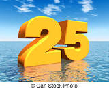 Image result for picture of the numbers 25