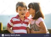 Image result for picture of a little girl whispering in ear of a little boy