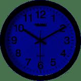 Black Wall Clock 12 - Plastic