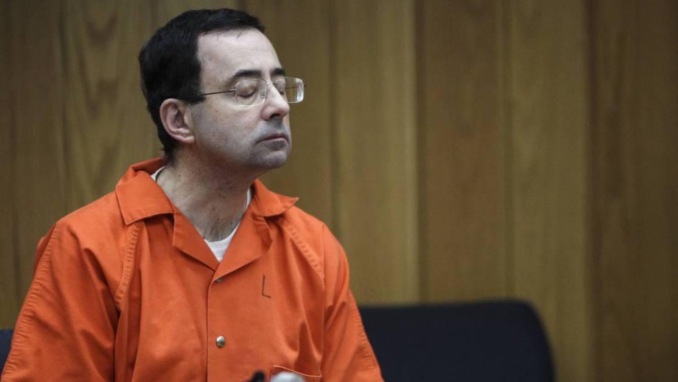 El exentrandor Larry Nassar, durante el juicio.