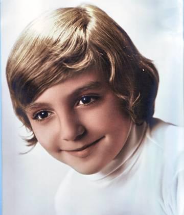 Manuel Vilas cuando era pequeño.