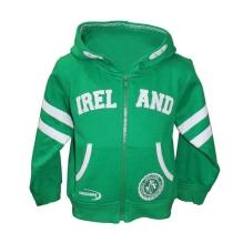 Lansdowne Kids Emerald Green Zip Baby Hoodie With Ireland Embroidery