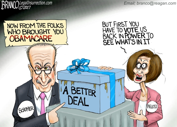 DNC A Better Deal | A.F. Branco | Conservative Cartoon