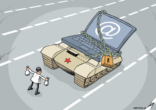 Internet censorship in China By rodrigo | Politics Cartoon | TOONPOOL