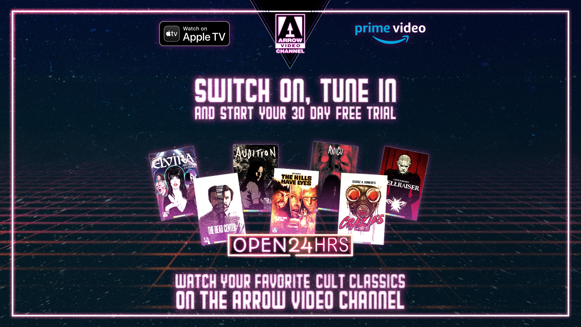 ARROW VIDEO CHANNEL - NOW FREE FOR 30 DAYS!