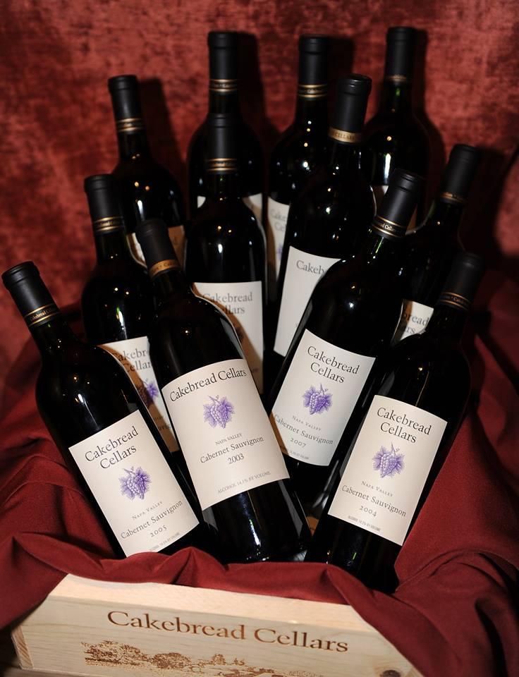 Cakebread Cellars Wine Bottles in Wine Box