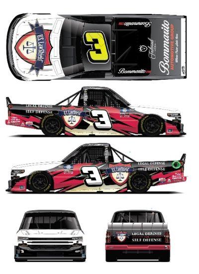 Jordan Anderson's No. 3 U.S. LawShield Chevrolet Silverado
