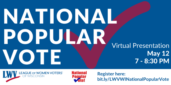 National Popular Vote webinar @ Online
