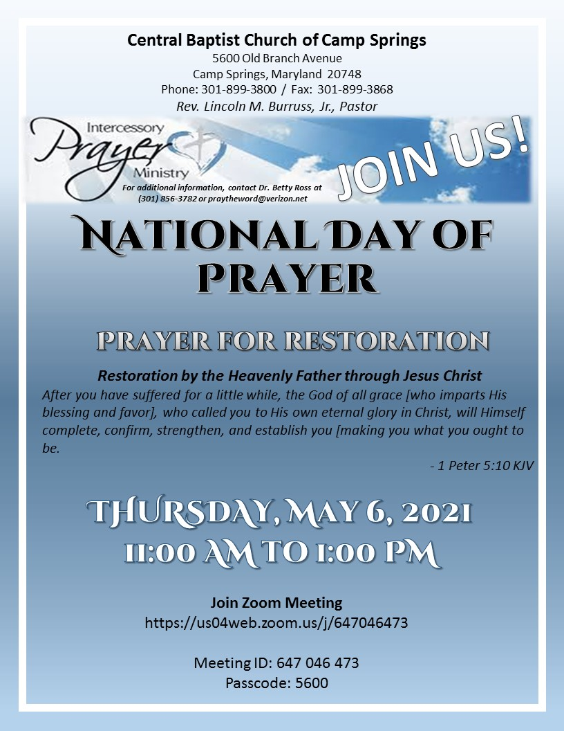 May 6th National Day of Prayer Flyer