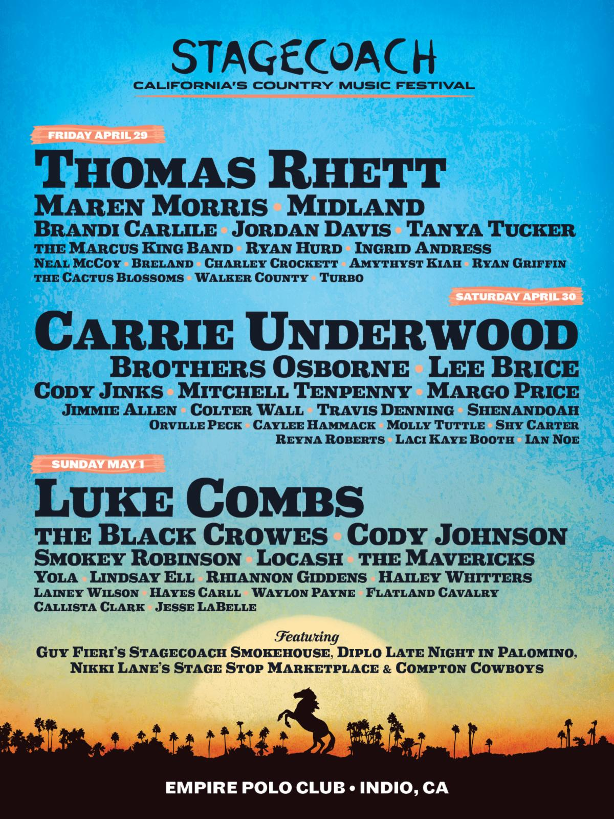 Stagecoach 2022 lineup poster