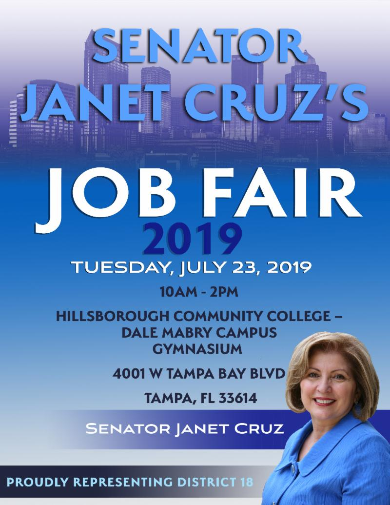 Janet Cruz's 2019 Job Fair at HCC, Dale Mabry @ Hillsborough Community College, Dale Mabry Campus Gymnasium