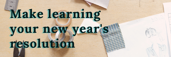 Make learning your new years resolution banner