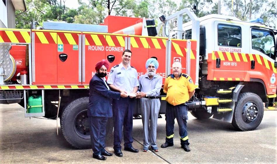 GOPIO-Sydney NW Donates to Fire Service