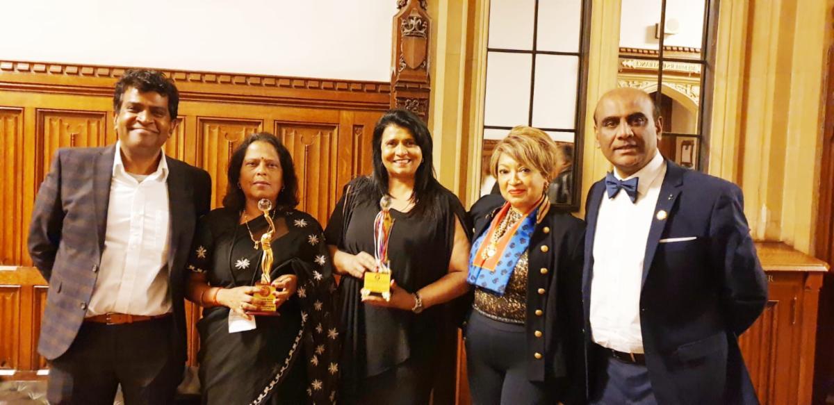 Inspiring Indian Women Award at the UK Parliament