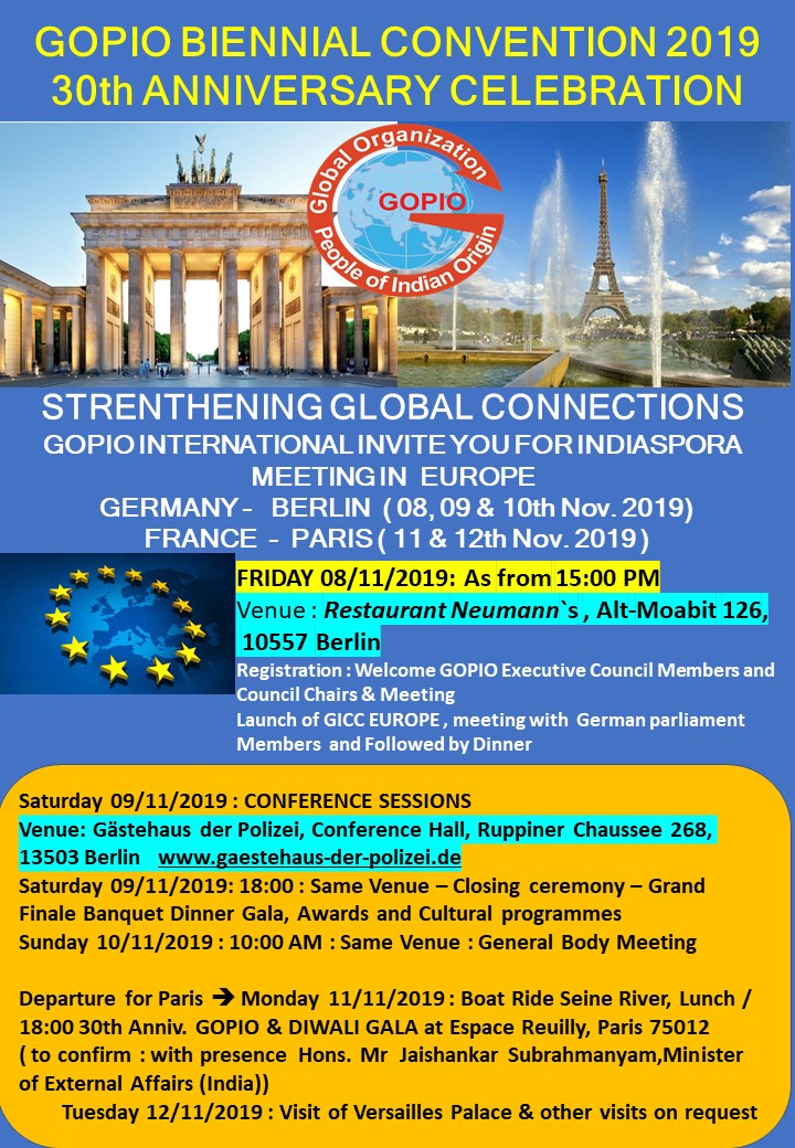 GOPIO Convention-Berlin and Paris