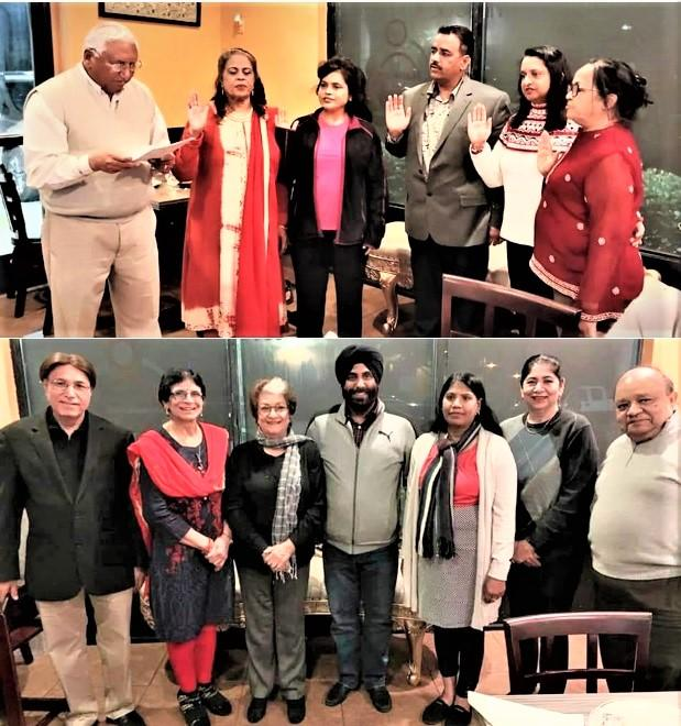 GOPIO-LA 2020 Team Taking Oath and Subcommittees