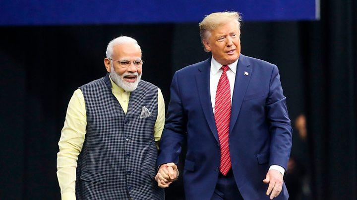 PM Modi and President Trump at the Howdy Modi Program in Houston